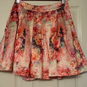 L'atiste by Amy Skirts - L'atiste by Amy Floral Pleated Mini
